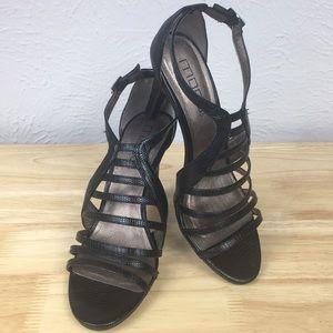 Moda Spana Black Strappy Heels